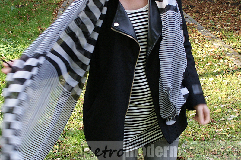 czarny płaszcz na jesień