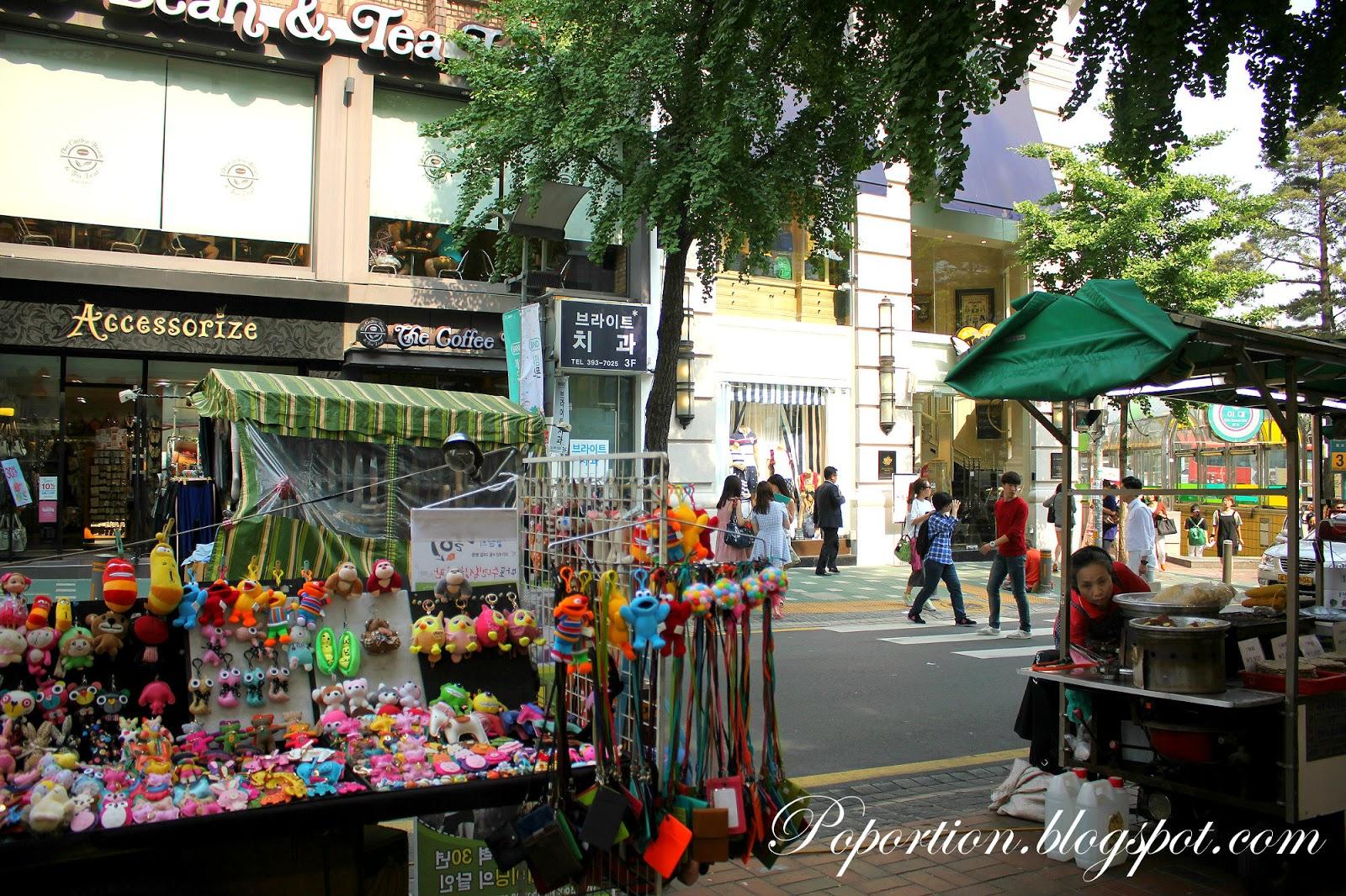 ewha womans university shopping street korea where to go