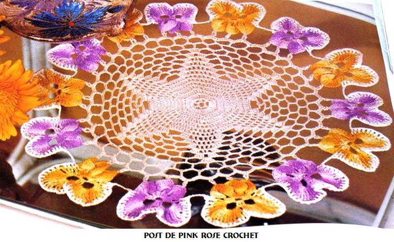 Vintage Crochet Flower Bouquet Pansy Doily PATTERN | eBay