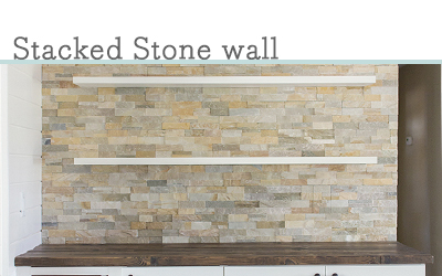DIY Stacked stone wall