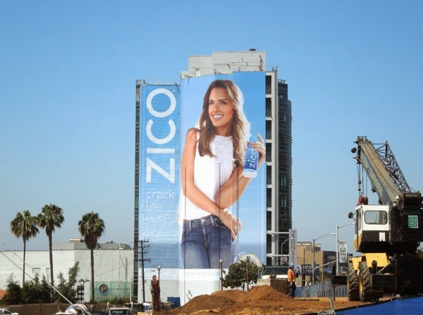Giant Jessica Alba Zico Coconut Water billboard