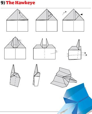 бумажный самолетик 16