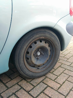 The Spare Tyre on the Car