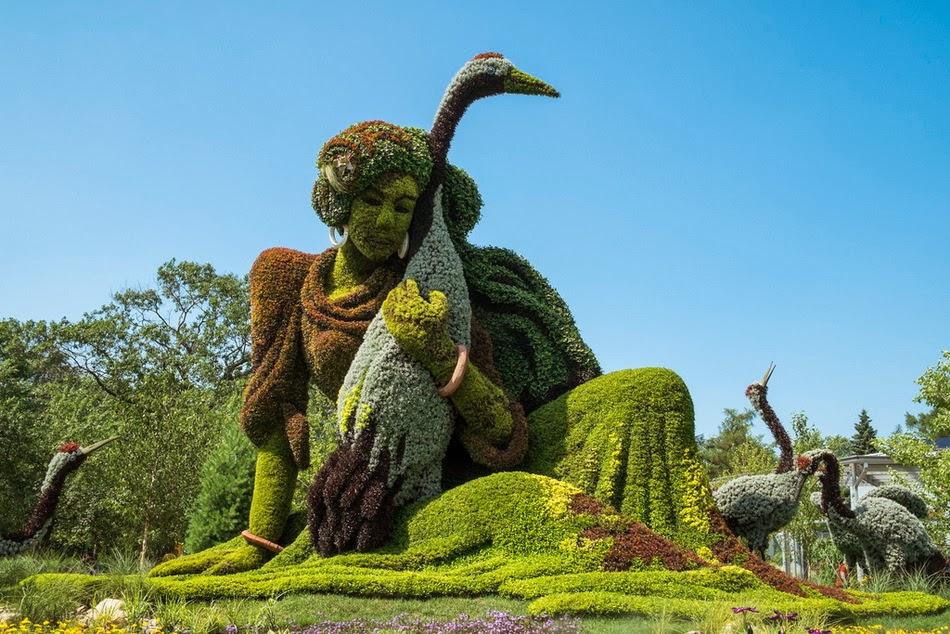 Зеленые скульптуры для сада