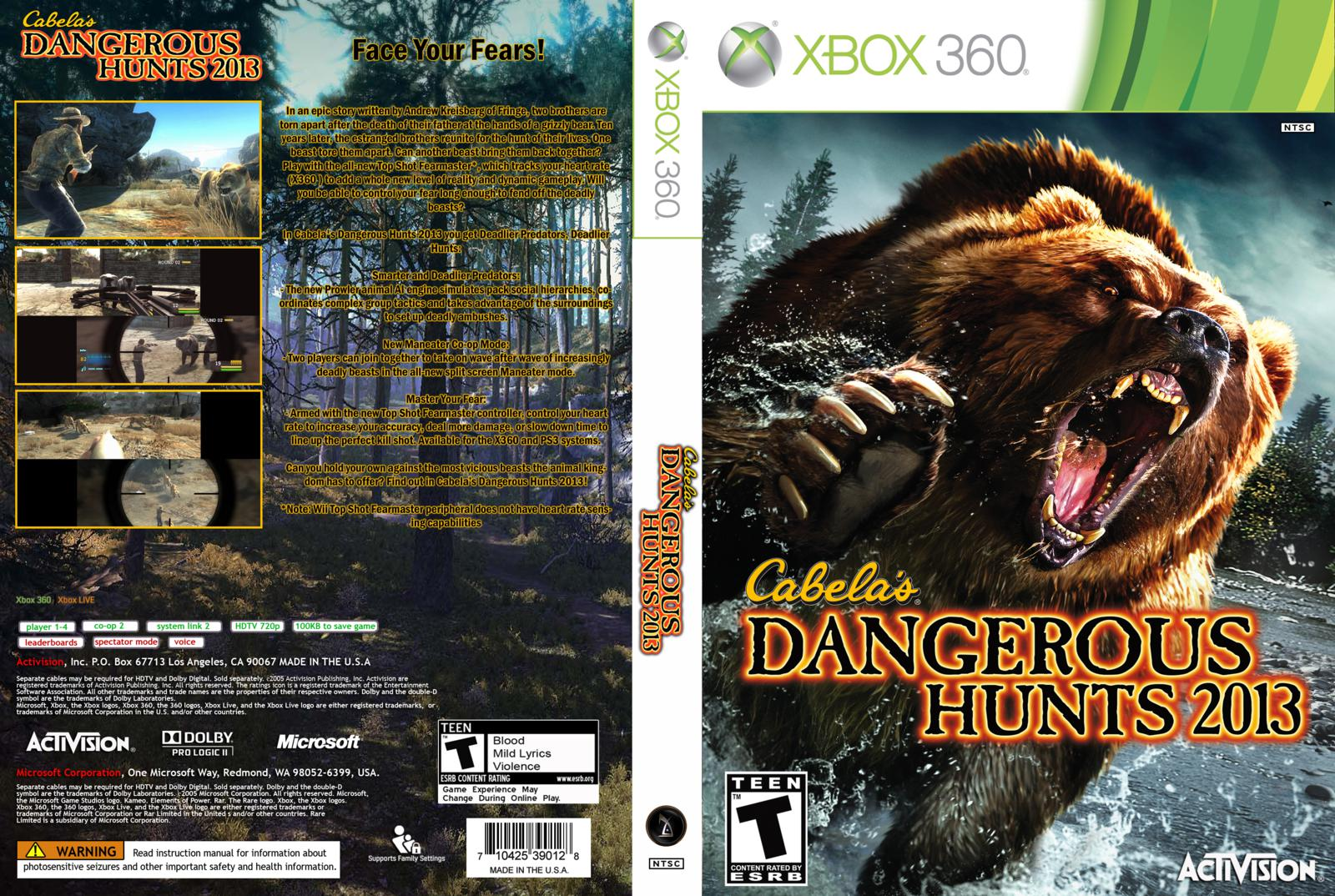 Xbox 360 Games 2013 : Hard gamess cabela s dangerous hunts xbox