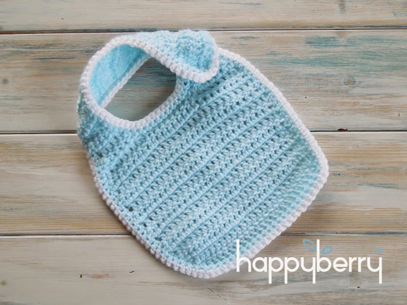 Crochet Baby Bib Patterns : Happy Berry Crochet: How To Crochet a Newborn Baby Bib ...