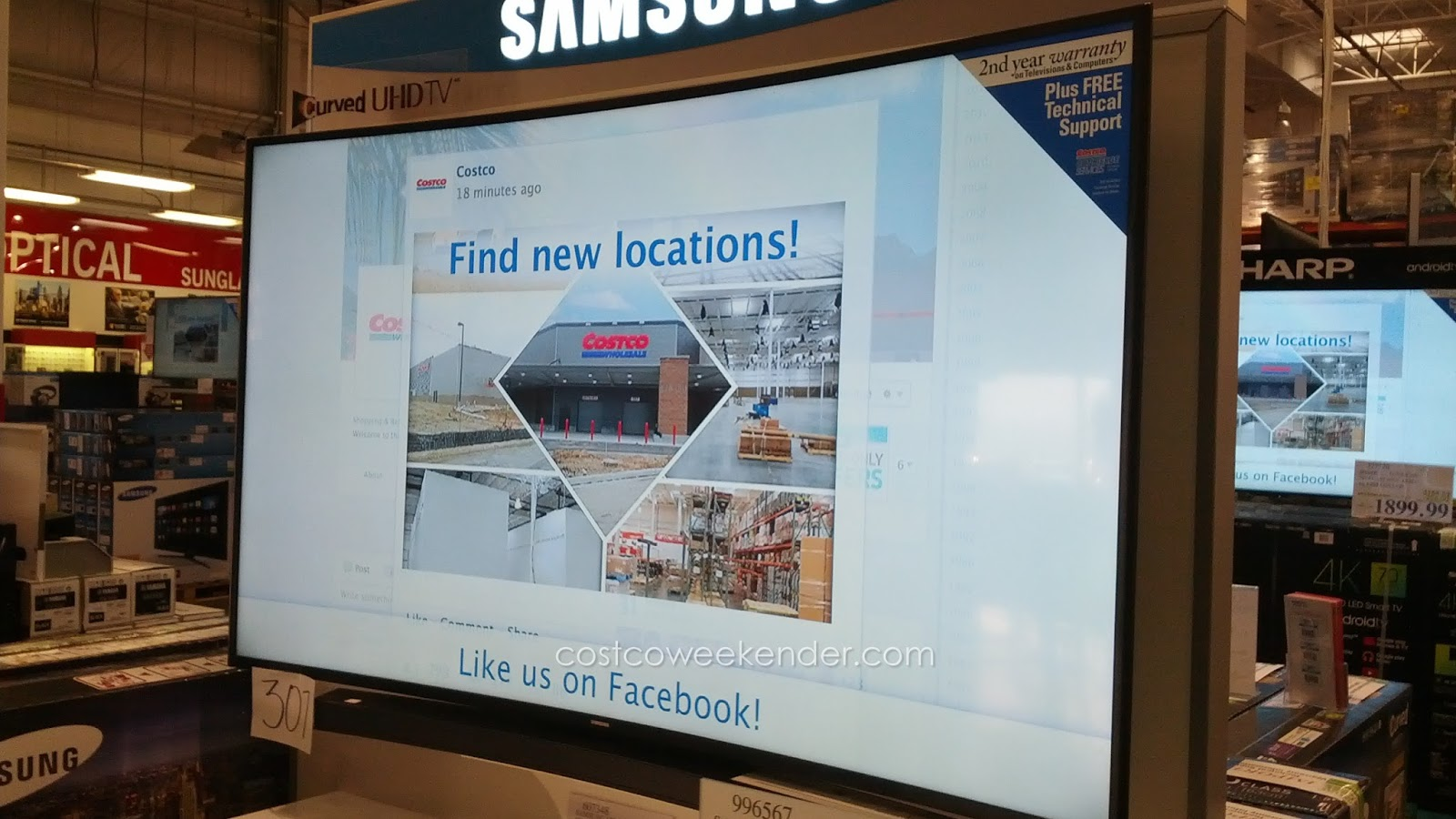 samsung tv costco. samsung un65ju670d with its curved panel for a whole new viewing experience tv costco c