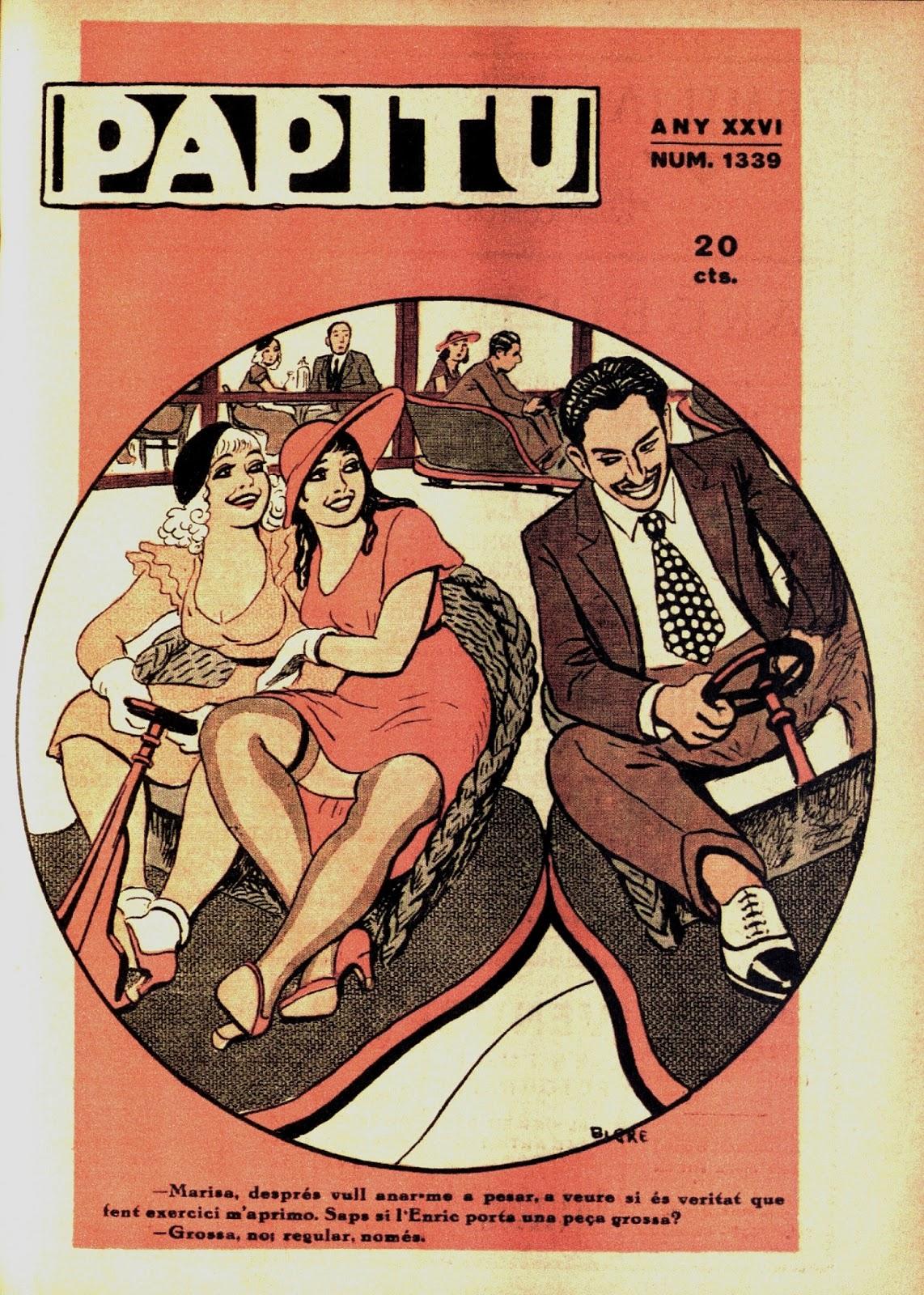 Revista Papitu, novembre 1934, portada per Ricard Opisso