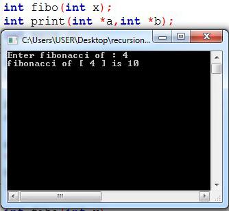 ข้อ 0.2 จงเขียนโปรแกรม fibonacci แบบ recursion แล้วนำไปปริ้นที่ฟังก์ชันโดยใช้ pointer