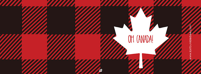LostBumblebee ©2015 MDBN : Oh CANADA : FREE PRINTABLE : Donate to Download : PERSONAL USE ONLY!