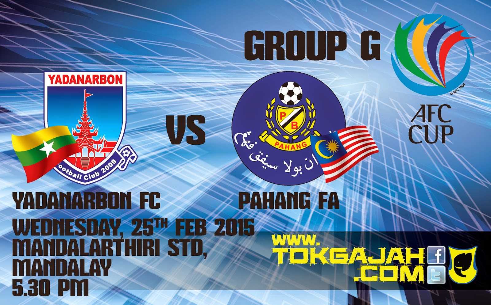 Pahang Vs Yadanarbon AFC Cup 25 Feb 2015 530 PM