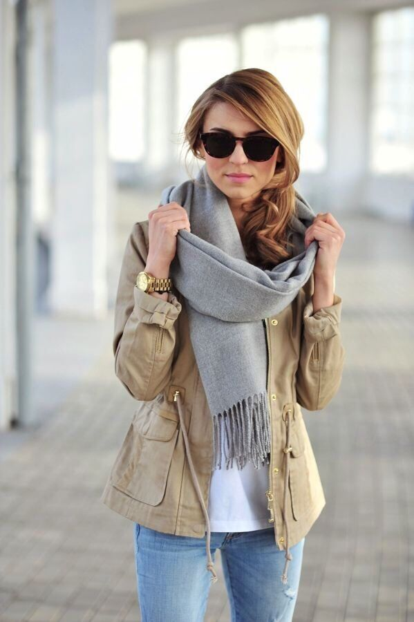 chic gray chunky sweater