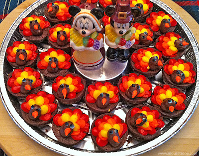 Mickey Minnie Thanksgiving Turkey Brownies Disney centerpiece