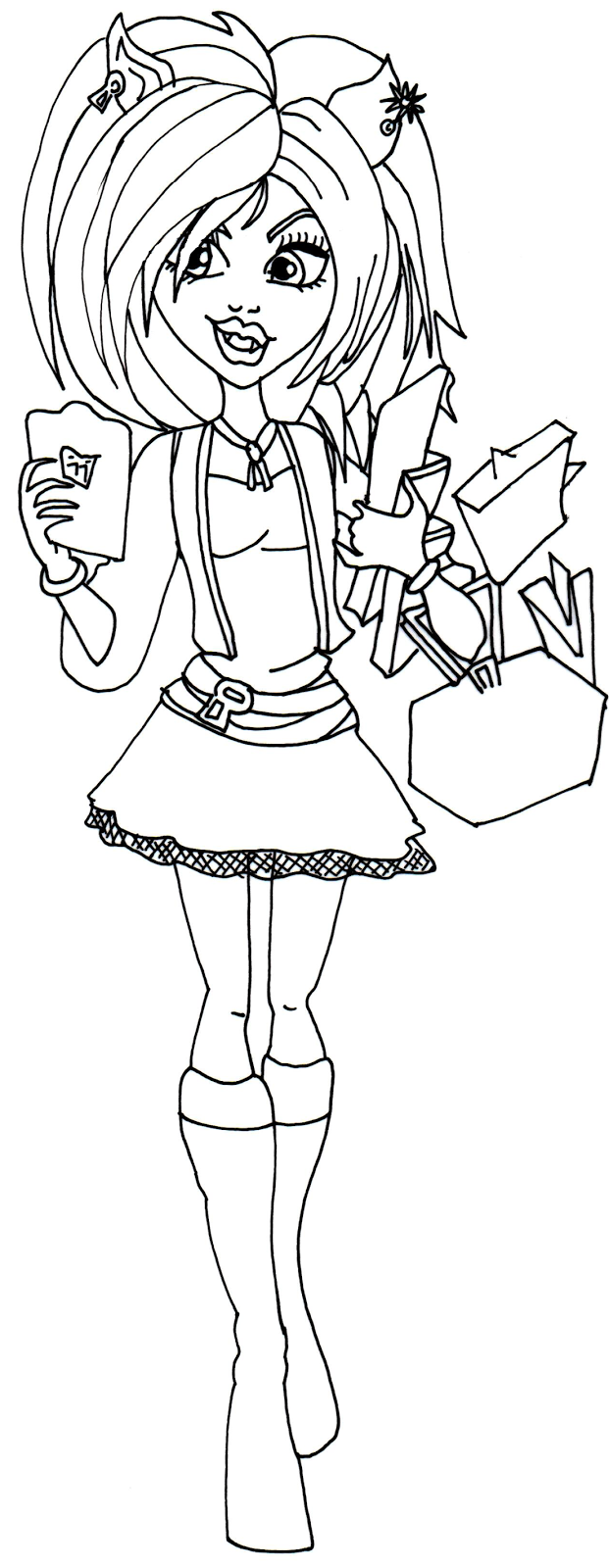 Monsterhigh Robecca Steam Coloring Pages
