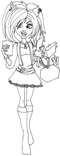 Monster High Clawdeen Coloring Pages Printable