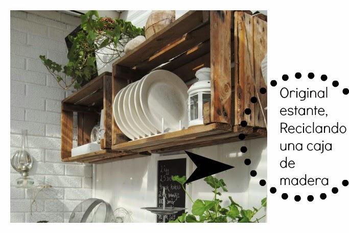 Cajas de madera for Decoracion reciclaje interiores