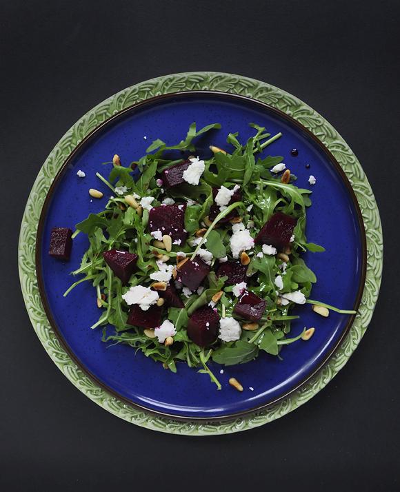 Marinated raw beet salad