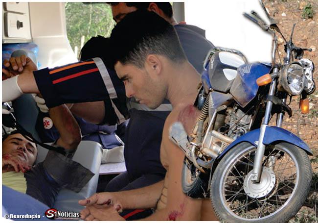 Dois jovens ficam feridos apos acidente na PB-306