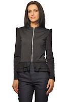 Jacheta neagra din jerse D2000 (Ama Fashion)