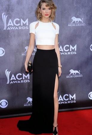Apesar de ser adepta ao estilo ladylike romântica, Taylor Swift também sabe apostar e arrasar com uma tendência mais ousada e sensual