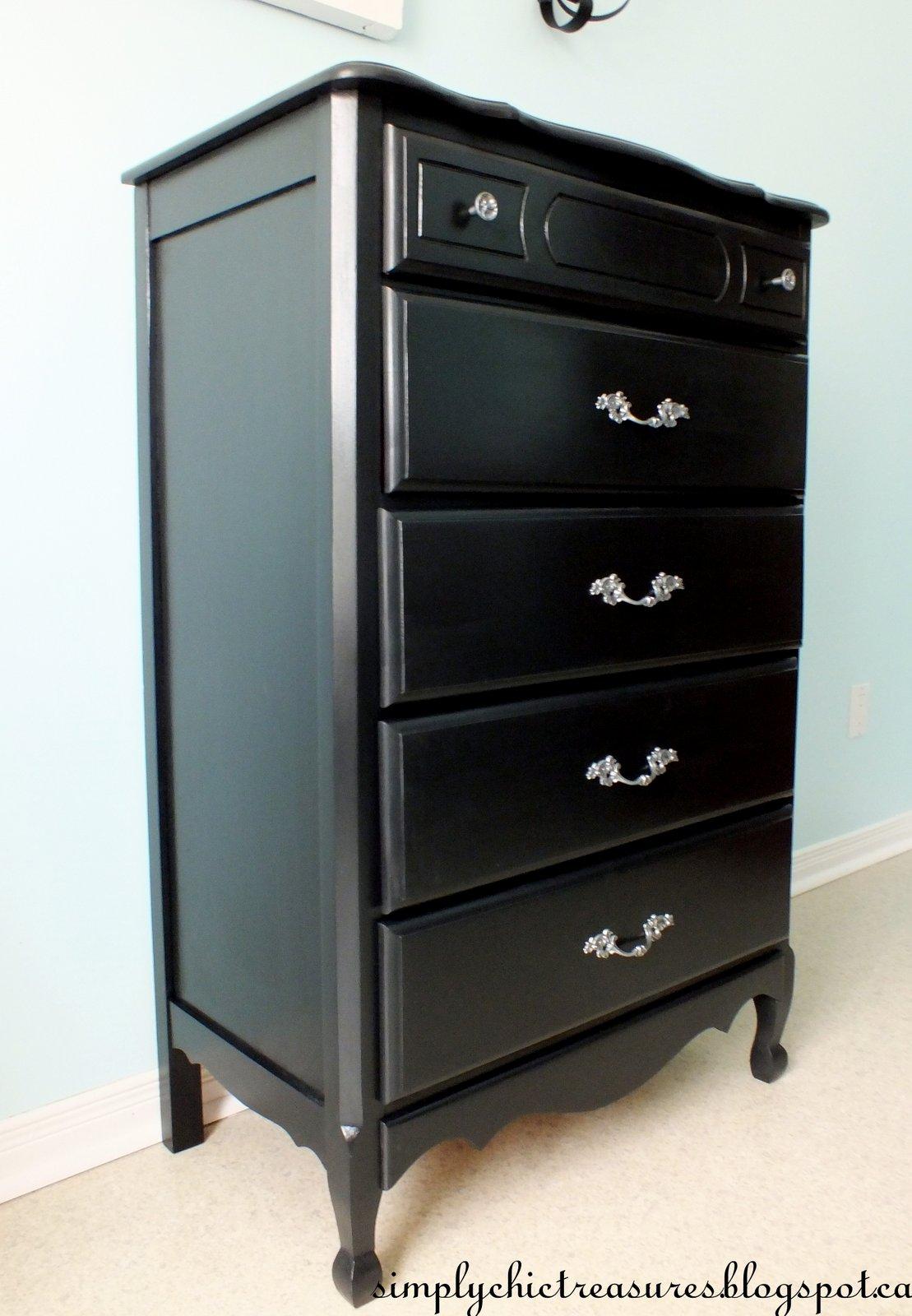 Genial Painted Black Dresser