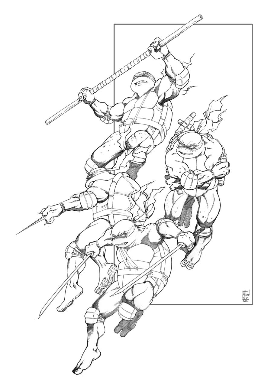 Increíble Tortuga Ninja Adolescente Mutante Para Colorear ...