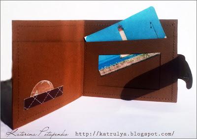 портмоне своими руками, фигурные нестандартные открытки, классическое портмоне