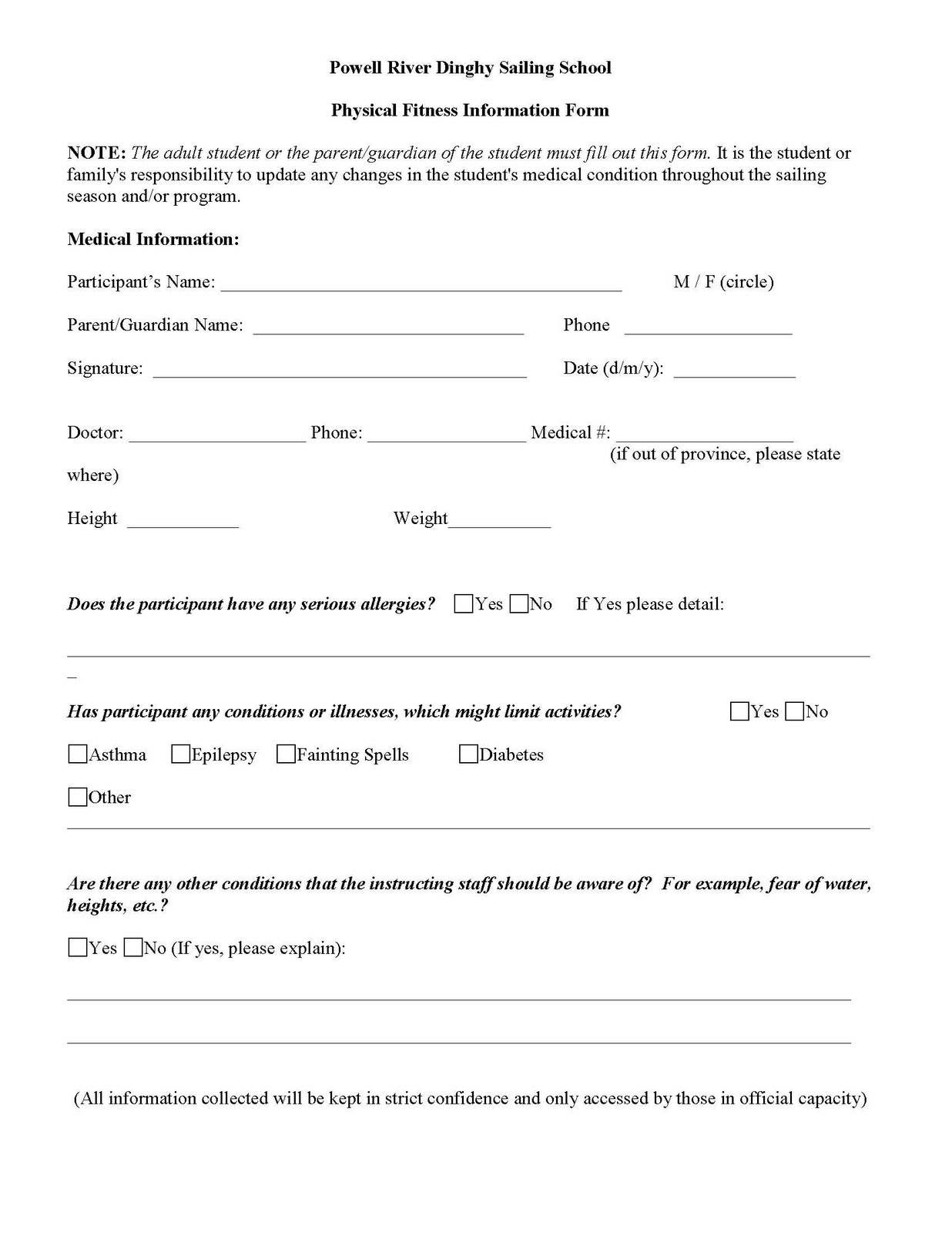 Doc12751650 School Registration Form Template Registration – School Registration Form Sample