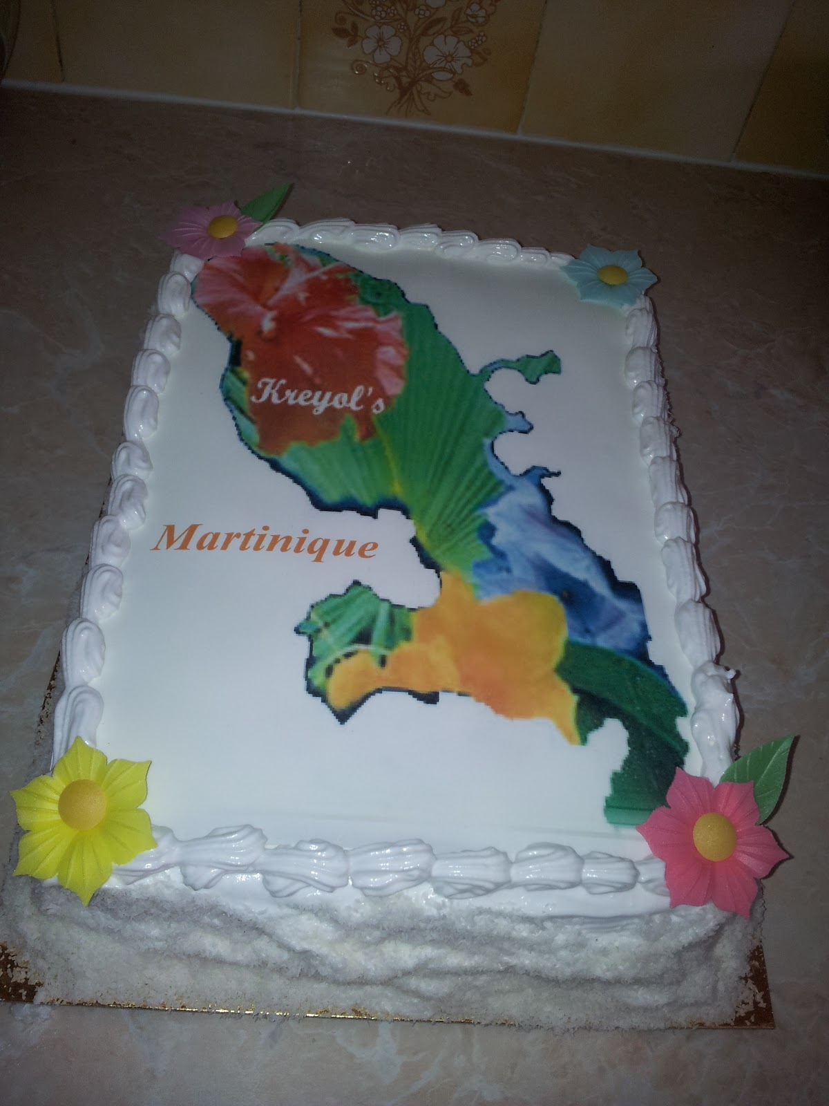 ... de Brunette: Gâteaux carte des antilles - Haïti-Martinique