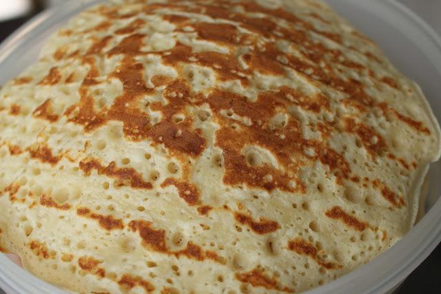 Pancake, home baking