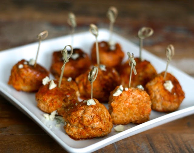 is for: Football Feast {Buffalo Chicken Meatballs, Mini Pizzas ...