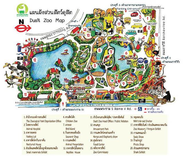 Dusit Zoo Bangkok Location Map – Maps Of Bangkok For Tourists