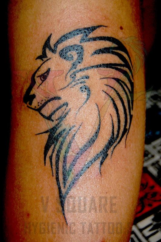 Tibal Lion Tattoo title=