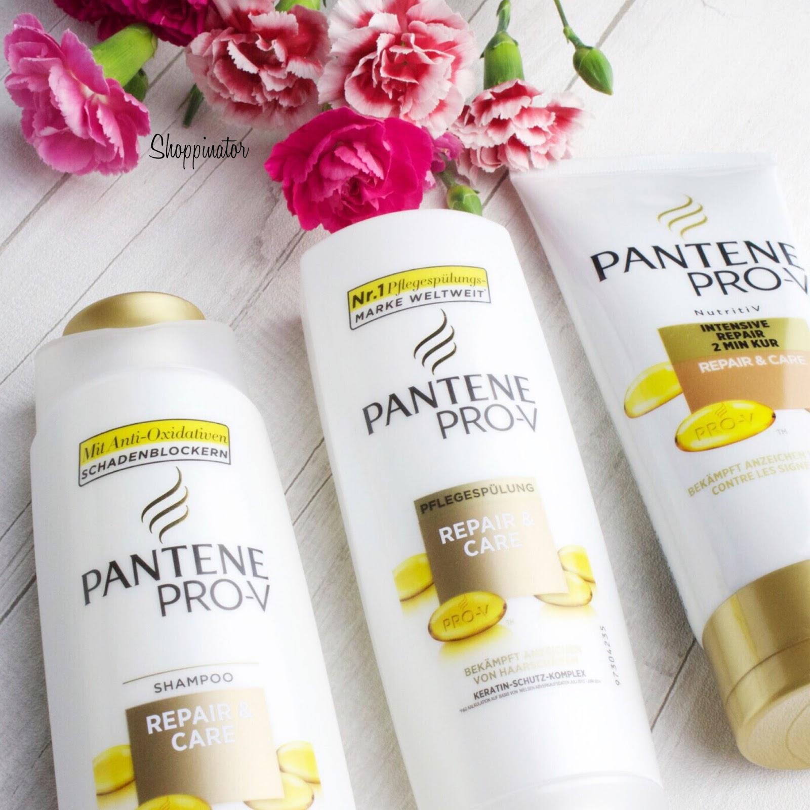 Shoppinator-Pantene-Pro-V-Repair-and-Care-Review-Test-Shampoo-Spülung-Kur