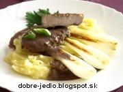 Panenka s teriyaky omáčkou a grilovanou jarnou cibuľkou - recept