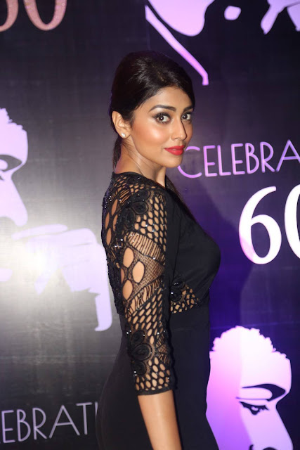 Shriya Saran Latest Photos At Chiranjeevi 60th Birthday Party Red Carpet