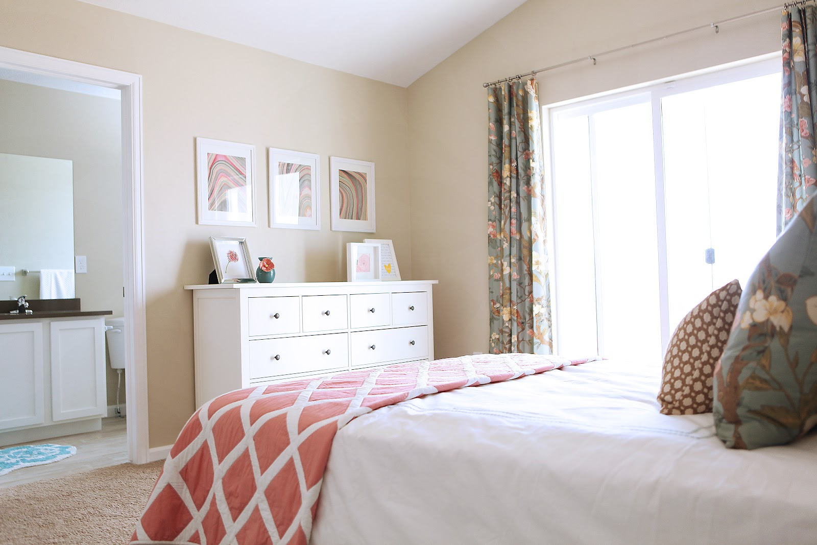 Ikea Hemnes Queen Bed Hardware ~ Curtains Made from the Arianne Queen Duvet Cover from Pottery Barn