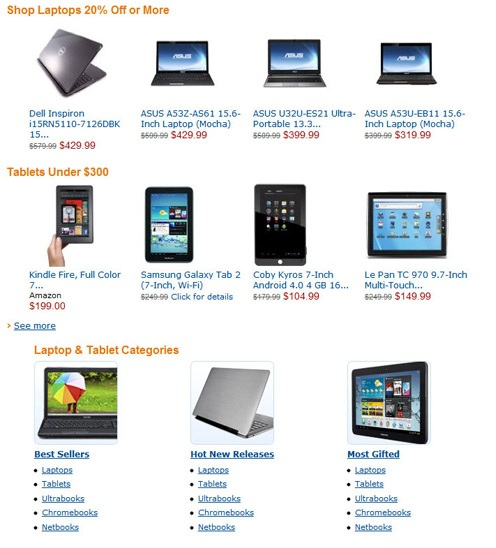 Amazon promotional code 2012 Electronics