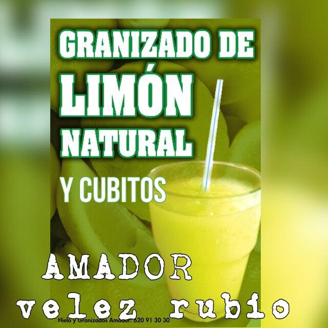 Granizado de Limon y hielos AMADOR