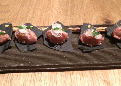 ROKA wagyu beef tartare japanese food