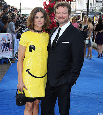 Colin Firth with Wife
