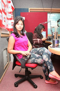 Actress Anjali Pictures in Pink Top at 92.7 BIG FM for Masala Movie Promotion  0034
