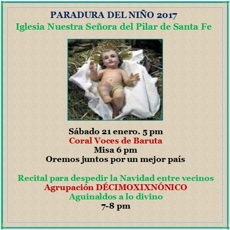 Paradura del Niño 2017 en Santa Fe, #Baruta