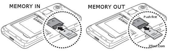 Insert Install Remove microSD External Memory Card Slot Samsung Galaxy S Advance GT I9070