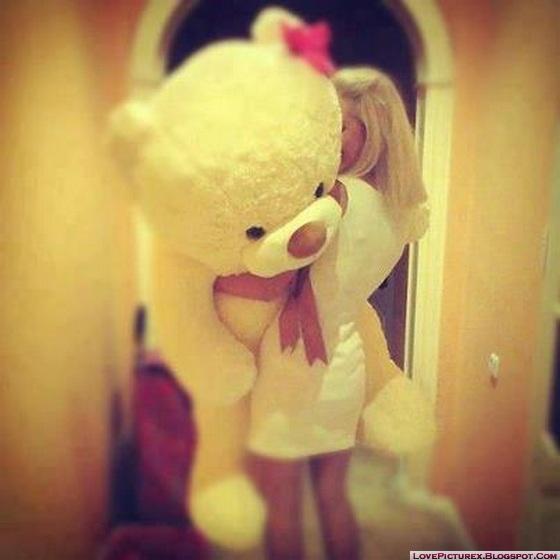 Cute Teddy Bear Big Beautiful Girl Beauty Alone Lovepicturex