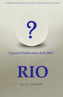 Working Title & Expected Release for Ally Condie's new book Rio