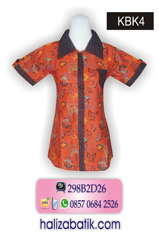 085706842526 INDOSAT, Busana Batik, Grosir Baju Batik, Model Batik, KBK4, http://grosirbatik-pekalongan.com/Blus-kbk4/