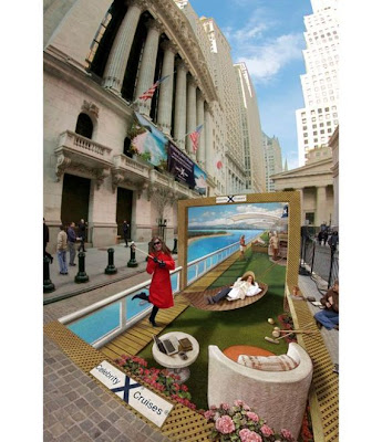 3-D street art by former NASA space illustrator Kurt Wenner