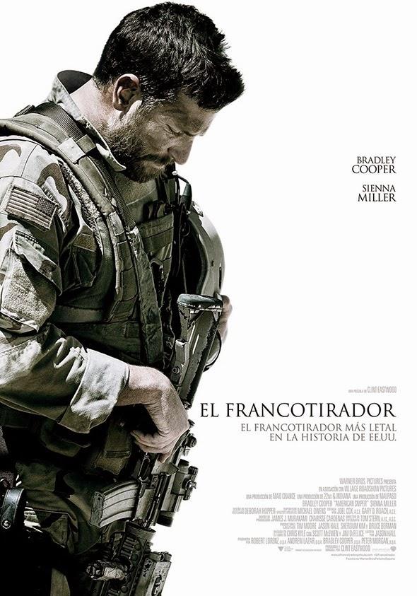 Imagen del póster en español de 'El Francotirador'