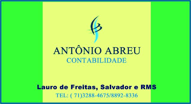 Antônio Abreu Contabilidade (71) 3288-4675 / 9-8892-8336
